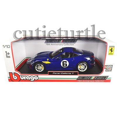 Bburago 1:18 70th Anniversary Collection Ferrari California T Diecast Car 76104