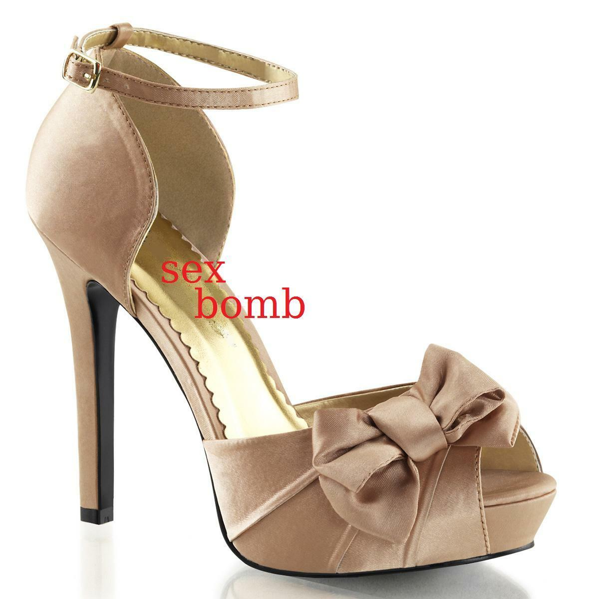 Sexy Decolte shoes heel 12 from 35 to 41 Powder Platform bluent Strap
