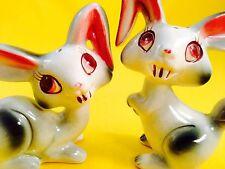Bunnicula Vampire Cute Bunny Rabbit Vintage Salt and Pepper Shakers Japan - Fun!