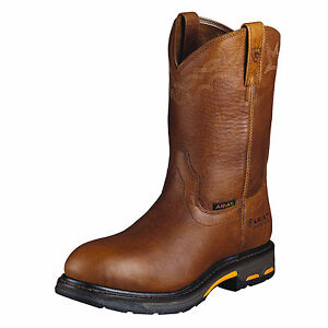 ARIAT-Men-039-s-Workhog-Pullon-Comp-Toe-Golden-Grizzly-10001186-New