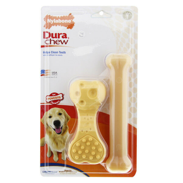 NYLABONE DURACHEW 2-PK LARGE GIANT Size Durable Tough Long last Dog Chew Toys