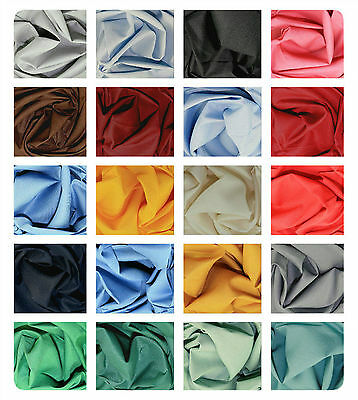 "Klona Cotton Fabric - Plain Solid Colours - Wide Material - 53"" (135cm) wide"
