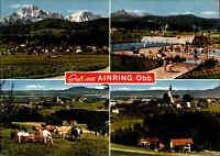 AINRING Oberbayern AK 4 Ansichten u.a. Schwimmbad Ansichtskarte Postkarte 1975