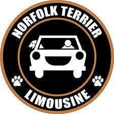 "Limousine Norfolk Terrier 5"" Dog Transport Sticker"
