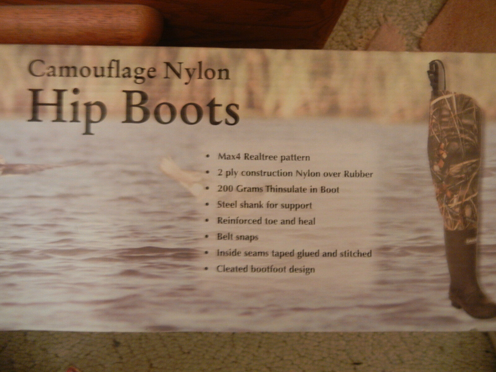 Caddis Camouflage Camo Nylon 2 ply Hip Boots  New Box Lightweight 7 8 9 10 12 13  selling well all over the world