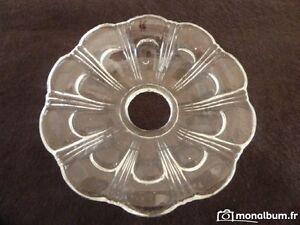 1 Coupelle Baccarat Xix ème Pour Lustre T= 13.30cm - N°16 / Glt Les Couleurs Sont Frappantes