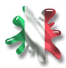 Retro Old School SPLAT & Italy Italian il Tricolore Flag vinyl car sticker decal