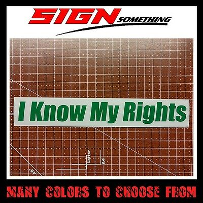 Sticker constitution I Know My Rights Decal
