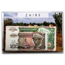1993 Zaire 1 Makuta-10 Zaires Banknotes Set Unc - SKU #88181