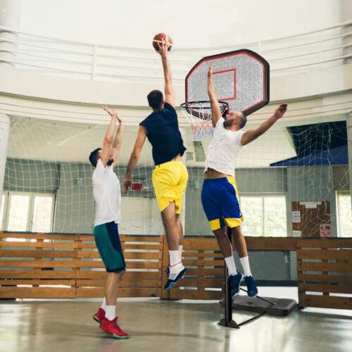 Panier de basket mobile sur pied hauteur réglable 220-305cm avec stand&roue