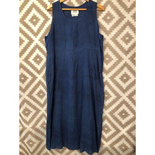 100/% Pure Linen Italy Simple Linen Dress Navy Flax Dress Maxi Linen Dress .