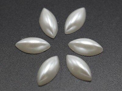 1000 Blanco Puro Media Perla Bead 6 mm piso nuevo cabachons Scrapbook