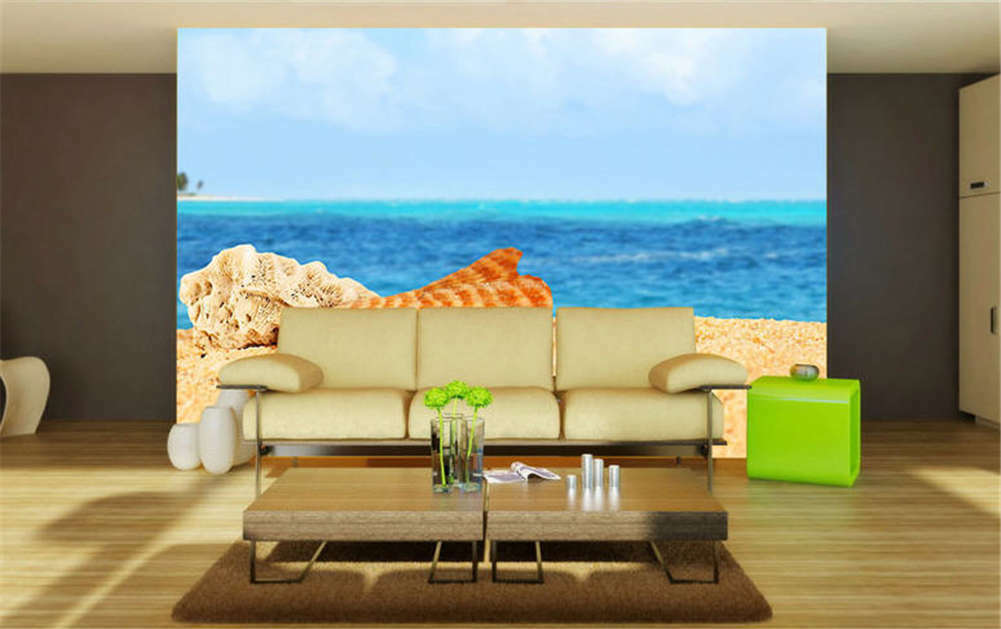 Entitled Soft Beach 3D Full Wall Mural Photo Wallpaper Printing Home Kids Decor