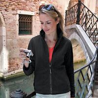 BLACK GREY RED or NAVY DARK BLUE Ladies Womens Polyester Micro Fleece Jacket