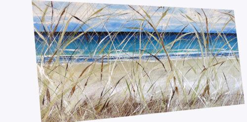 Original art painting print signed Andy Baker Beach surf waves Australia COA