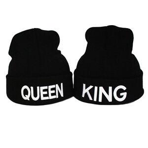 b381d83773f King Queen Fashion Knitted Warm Hat Women Men Skullies Beanies ...
