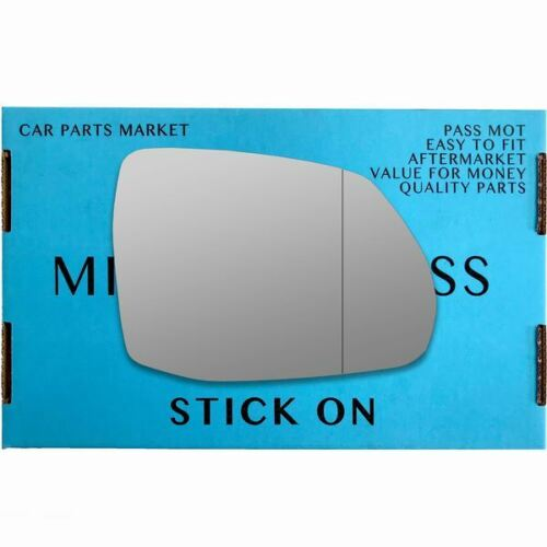 Right Driver side Wide Angle wing mirror glass for Audi Q7 2015-On