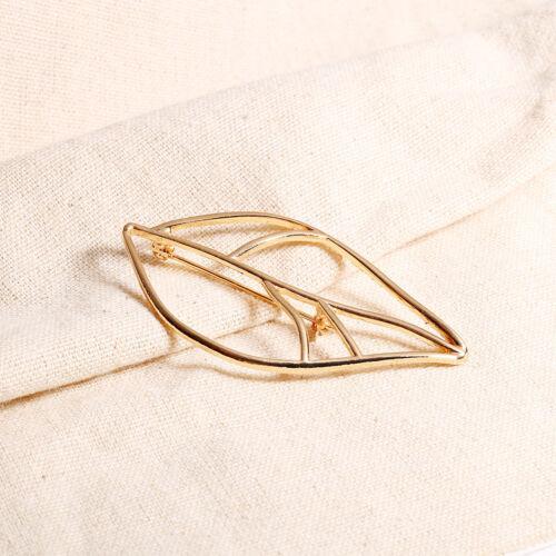 ELEGANCE Women Golden Silver Leaf Broche Mariage Vêtements Et Ornements