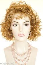 Light Pale Blonde /Auburn / Brown H-Lght Medium Wavy Wigs