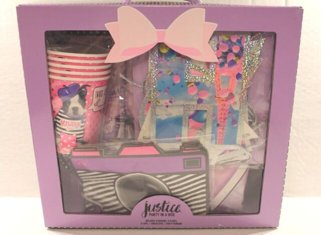 Justice Girls Birthday Party In A Box Paris Theme Set For 5 Plates Cups Napkins