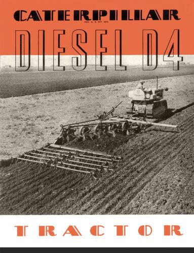 Caterpillar D4 RD4 Diesel Tractor Sales Book 1939