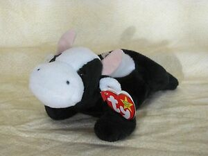 Ty Beanie Baby Daisy Black n White Cow May 24-1994 PE Pellets  d35981cacdd9