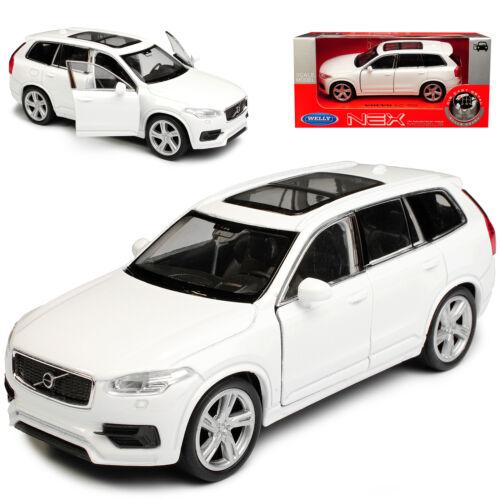VOLVO xc90 SUV bianco 2 generazione a partire dal 2015 ca 1//43 1//36-1//46 Welly Modello Auto...