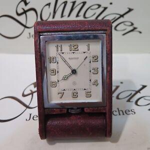 ccdf9cd230c Image is loading Vintage-Genuine-Jaeger-LeCoultre-travel-alarm-desk-clock-