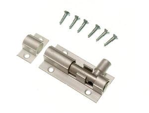 10-X-Aluminium-Brosse-Salle-De-Bain-Porte-Boulon-Slide-Catch-loquet-2-in-environ-5-08-cm-50-mm-Neuf