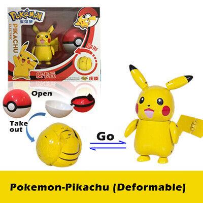 Pokemon Pikachu Action Figure Ball Transformation Robot