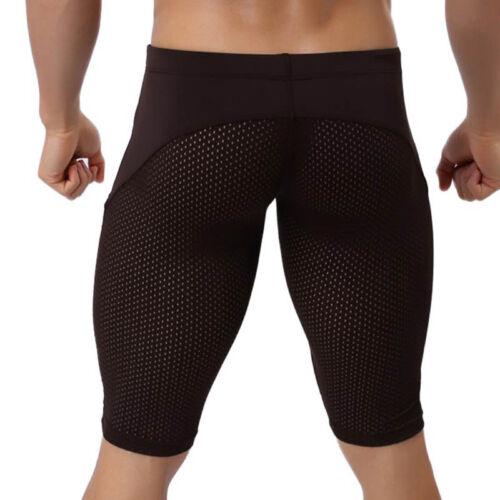 Men Weight Loss Pants Breathable Shorts Thigh Sweat Sports Body Shaper Pants