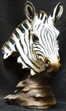 "TAFARI   Zebra Bust   TOTEM Statue Figurine  H9.5"""