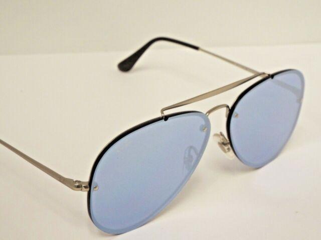 NEW Ray-Ban RB3584N 9083/1U Blaze Aviator Silver Mirror Sunglasses $248