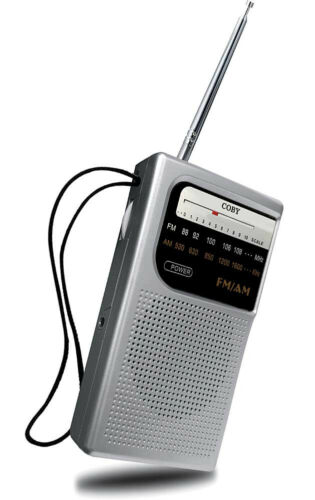 Coby CR-203 Pocket Size AM//FM Radio Built-in speaker Excellent sound /& Reception