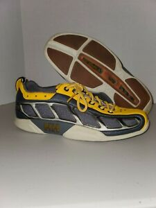 Helly-Hansen-Leather-Yellow-amp-Grey-Sneakers-Mens-sz-4-Womens-sz-6