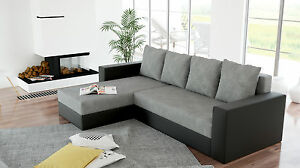 sofa couchgarnitur ecksofa couch aron wohnlandschaft mit schlaffunktion neu ebay. Black Bedroom Furniture Sets. Home Design Ideas