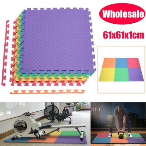 Wholesale 24//240 Sq.Ft EVA Foam Floor Mat Interlocking Exercise Gym Pad 10 Color