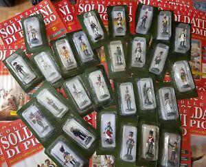Lotto 27 soldatini De Agostini piombo scala 1/54 da collezione