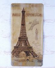 Eiffel Tower Paris Exposition Metal Hanging Tin Signs Pub Bar Home Wall Plaque