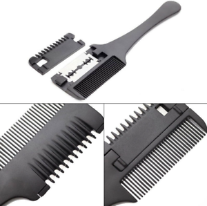 Hair-Razor-Comb-Hair-Cutting-Thinning-DIY-Trimmer-with-Blades-Double-Sides-Hot