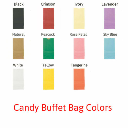 50 Heart Swirl Personalized Printed Wedding Favor Bags Candy Buffet