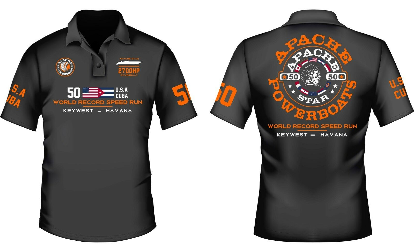 Limited Edition – Official Apache World Record Speed Run Sport Shirt