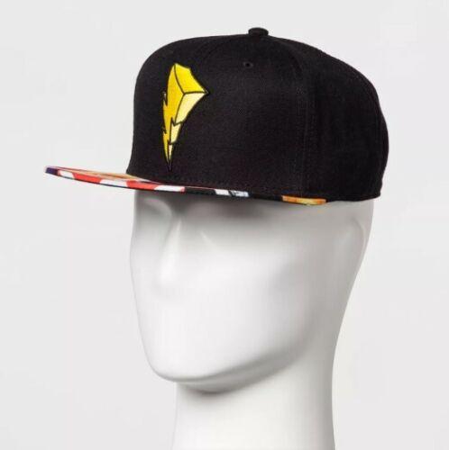 Men/'s Power Rangers Lightning Bolt Baseball Cap Black One Size