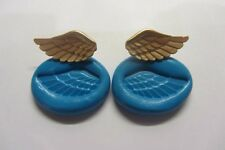 ANGEL WINGS MOULD sugarcraft Cupcake Cake Topper Fimo Cernit Sculpey Flexible