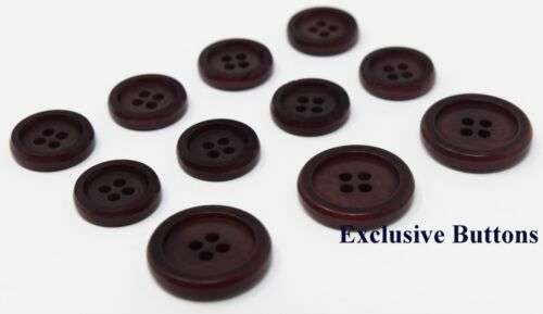 or Sport Coats Corozo Buttons Set for Suit Jackets Blazers Red Wine