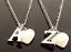 """Collar inicial Personalizado 18/"""" con colgante de corazón y carta de Plata Plateado"""