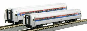 Kato-N-Scale-Amtrak-Amfleet-I-Phase-I-2-Passenger-Car-Add-on-Set-B-1068013
