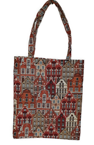 Einkaufsbeutel Einkaufstasche Häuser Belgien Brügge Renaissance Shopper Gobelin