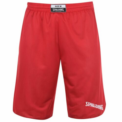 Spalding Mens Reversible Basketball Shorts Pants Trousers Bottoms Drawstring