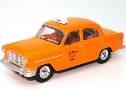 HO GAUGE 1958 FC YELLOW CABS TAXI NEW DIECAST IN DISPLAY CASE